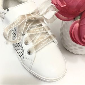 Chanel Ribbon designer shoelace Auth Ribbon